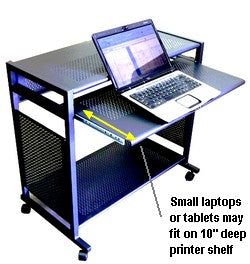 Sts7801 Metal 32 Quot Wide All Steel Mobile Computer Desk
