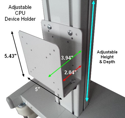 Adjustable CPU or other device holder
