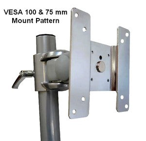 Chrome plated VESA 100 x 100 monitor bracket exclusively on CUZZI DSCLB Desk Monitor Stand