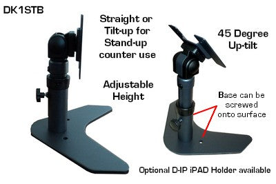 DK1STB Adjustable Monitor Desk Stand VESA - Sit or Standing Position