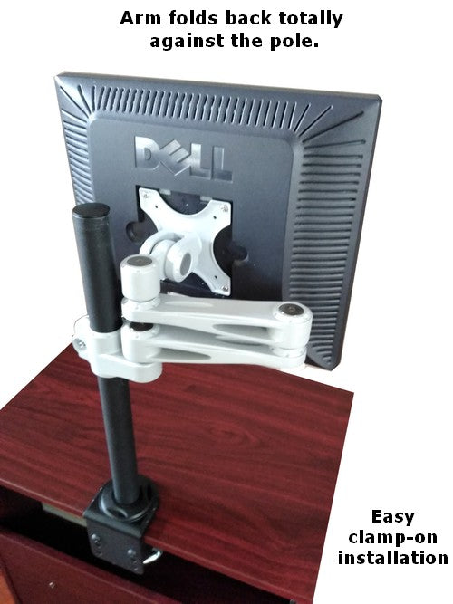 DF17CL Clamp on monitor desk stand and articulated VESA monitor arm