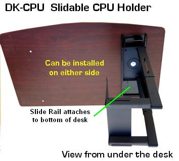 D-CPU-DK Slide in and out CPU Holder Platform for under the desk