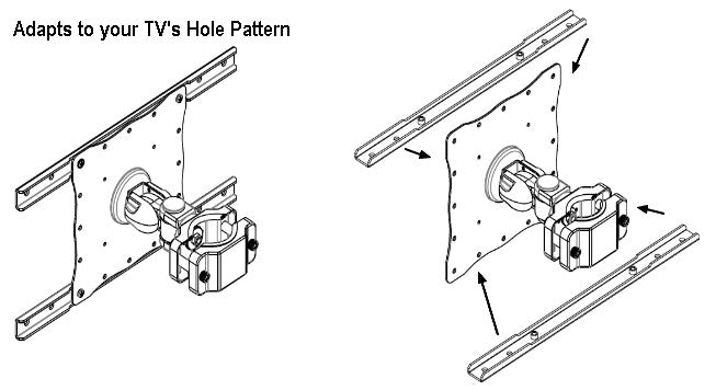 "DP55-45_Monitor-pole-mount-45""-tvs-hole-pattern"