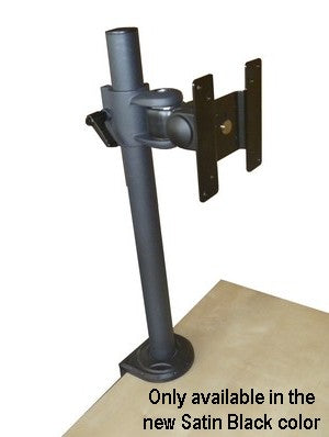 DCSLB Clamp on Table Monitor Pole Stand Black