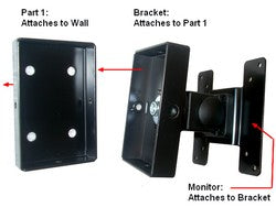 LCD Monitor Wall Mount with tilt