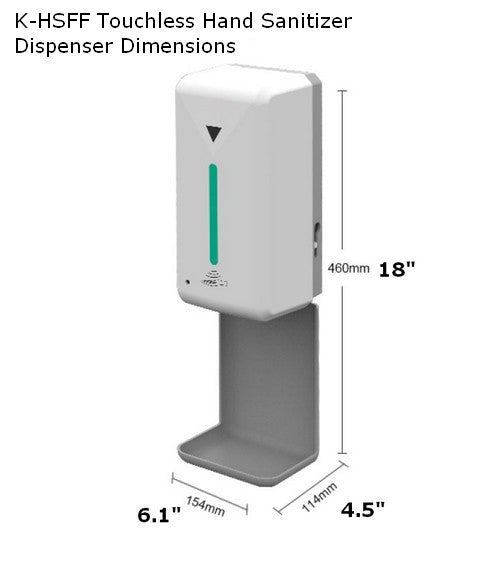Hand Sanitizer Floor Stand. Autiomatic Floor Stand Dispenser for hand Sanitizer & Soap. touchless hand Sanitizer Station. Commercial Floor Hand Sanitizer Stand for Restaurants, Churches, Schools, Lobbies