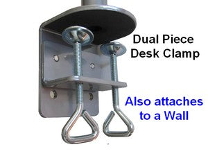 DSCLC Monitor Desk stand can be clamped onto a desk or mounted to a wall