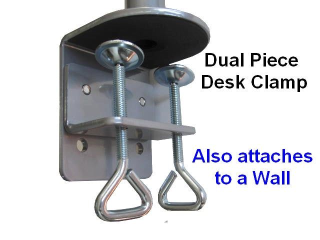 Clamp on Pole for laptop trays and monitor mounts