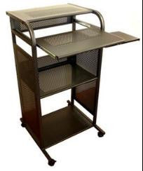 "S2445Metal 24"" 100% Steel Mobile Stand Up Computer Desk"