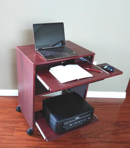 "s2326-24""-computer-desk-with-sliding-keyboard,-shelf-mouse-tray-&-printer-shelf"