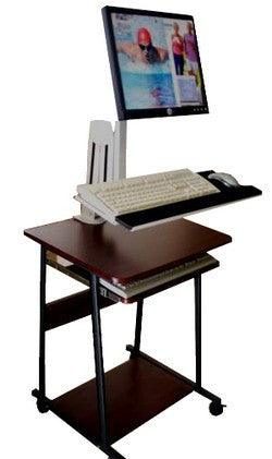 Articulated LCD Monitor and Keyboard Desk and wall arm