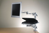 DLAC2_DFL Laptop Desk Stand and tray with LCD Monitor Arm Combo