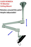 DC982CA Hospital & Healthcare Ceiling Monitor Arm Mount Adjustable Height, with rotation