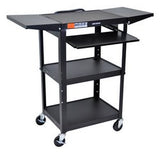 "C AVJ42KBDL 24"" Height Adjustable sit / stand metal computer cart - expandable - - Oceanpointe Distributors Corporation"