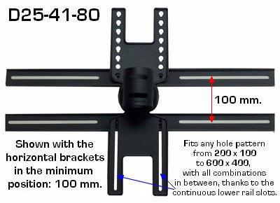 "Extra Long Commercial TV Ceiling Mount for up to 60"" TV - extends down to 80"""