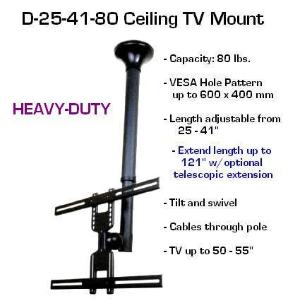 Wholesale Lot Of 4 D25 41 80 Ceiling Tv Mount 26 Quot To 60