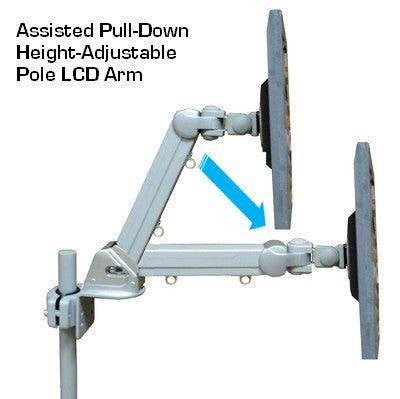 "DP855BS 20"" Adjustable Monitor TV Pole-Mount Arm - Also for Wall and Desk - Oceanpointe Distributors Corporation"