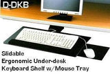 DKBDK Slidable Underdesk Ergonomic Keyboard Shelf w/Mouse Tray - Oceanpointe Distributors Corporation