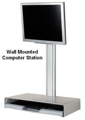 Floating Wall Computer Desk Station
