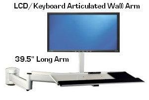 "D395-131 Wall LCD-Keyboard Arm - 39.5"" Long - Oceanpointe Distributors Corporation"