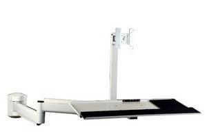 Wall Monitor & Keyboard Hospital or Bed arm - White