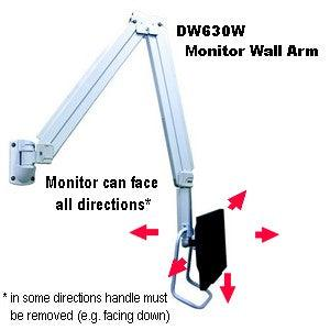 Dw630w 63 Quot Hospital Lcd Tv Monitor Wall Arm Over Bed
