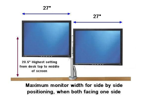 Dual Monitor Desk Stand Clamp On