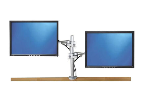 Dual LCD Monitor Desk Stand unique strong 2 bolt desk & table clamp