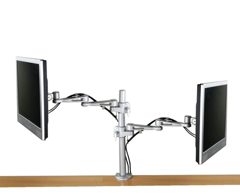 DF17CL-LCD2_Dual Offset LCD desk Stand Clamp On