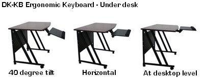 Slidable Underdesk Ergonomic Keyboard Shelf w/Mouse Tray