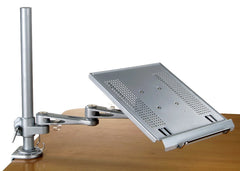 DLAC2 Laptop Tray for Desk (Clamp-on) or Bolt on Wall, also with keyboard holder