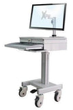 DMED1 Height-Adjustable Sit-Stand Mobile Medical Computer Cart w/lockable Laptop Drawer + Monitor Mount + Keyboard Tray +CPU holder - Oceanpointe Distributors Corporation