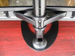 Reinforced Quad Monitor Stand: with heavy-duty reinforced arms