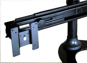 Monitor stand for 4 monitors with sliding brackets