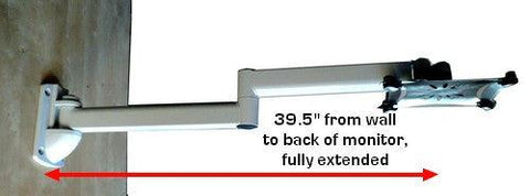 Dw395w 39 5 Quot Extra Long Articulated Lcd Monitor Wall Arm