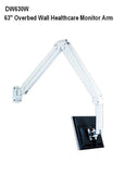 "63"" long Hospital Wall Monitor Arm for over-the bed use"