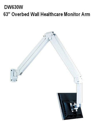 "DW630W 63"" Hospital LCD TV Monitor Arm - Over the Bed Arm - Wall Mount - Oceanpointe Distributors Corporation"