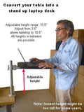 DVC03-SH-PD Add-on Laptop or Printer shelf - Standing laptop desk - Oceanpointe Distributors Corporation