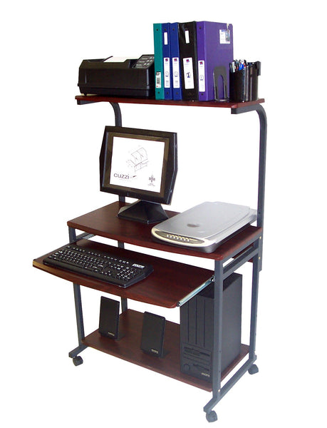 sts 7801 compact portable computer desk w hutch shelf keyboard tray oceanpointe. Black Bedroom Furniture Sets. Home Design Ideas
