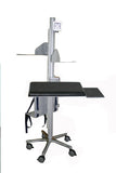 VC01 Mobile Height-Adjustable Pole Computer Station - Sit or Stand - Oceanpointe Distributors Corporation