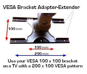 VESA Adapter from 100 x 100 to 200 x `100