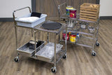 Three-Shelf Collapsible Foldable Food Service Wire Utility Cart