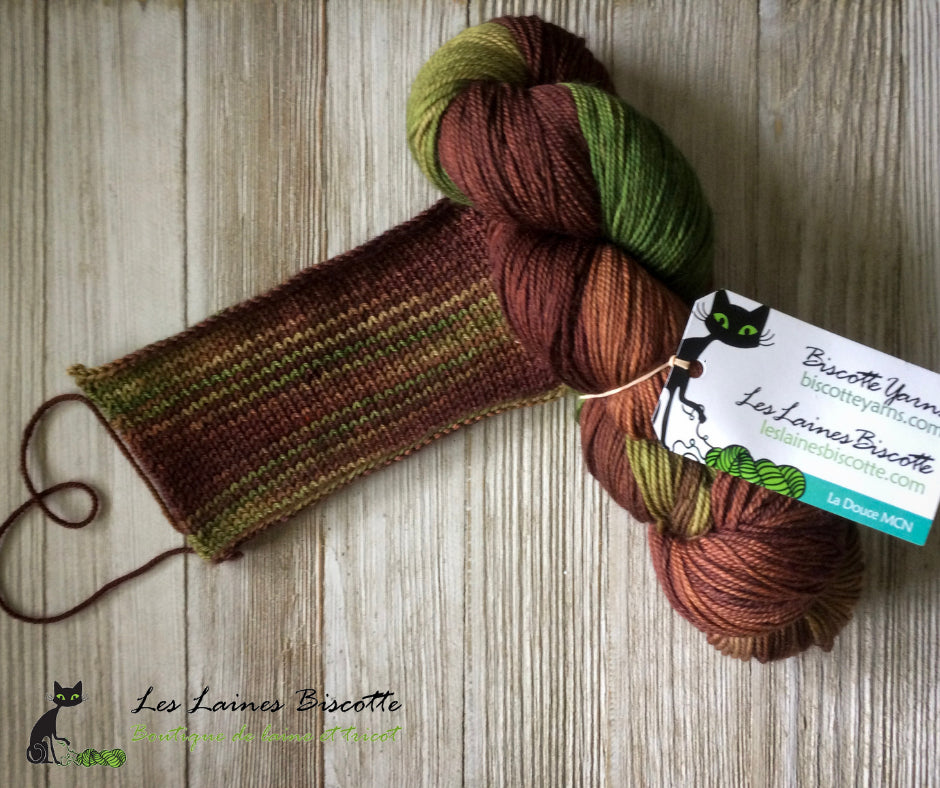 AG2N A Guy Two Needles Hand Dyed Yarn Sock Blank 6 SW Merino Fing or DK Variegated