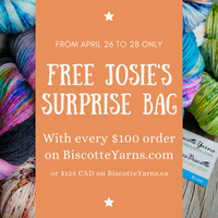 FREE JOSIE'S SURPRISE BAG YARN SALE