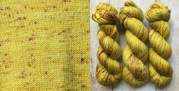 hand-dyed yarn speckled