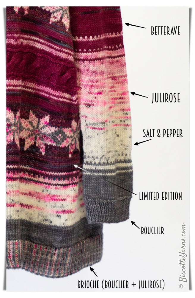 Vortex Cardigan Pattern colors