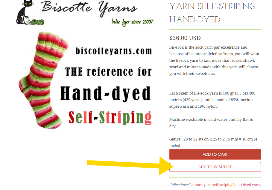 biscotte yarns wishlist