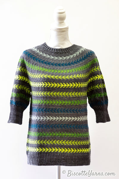 free sweater pattern Seascape