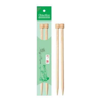 "ChiaoGoo single pointed bamboo knitting needles 9"" (23cm)"