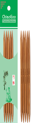 "Double pointed needles 8"" (20 cm) bamboo patina Chiaogoo"